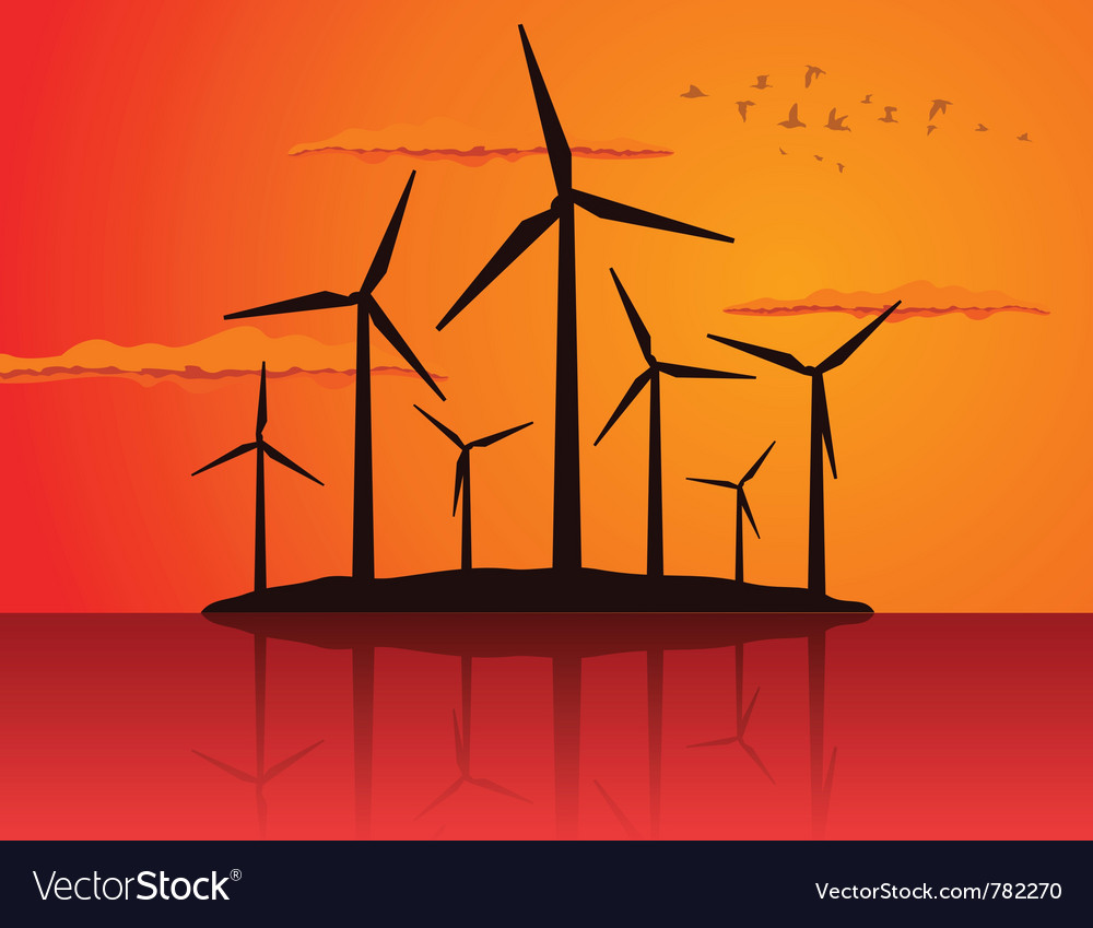 Ecologically wind vector image
