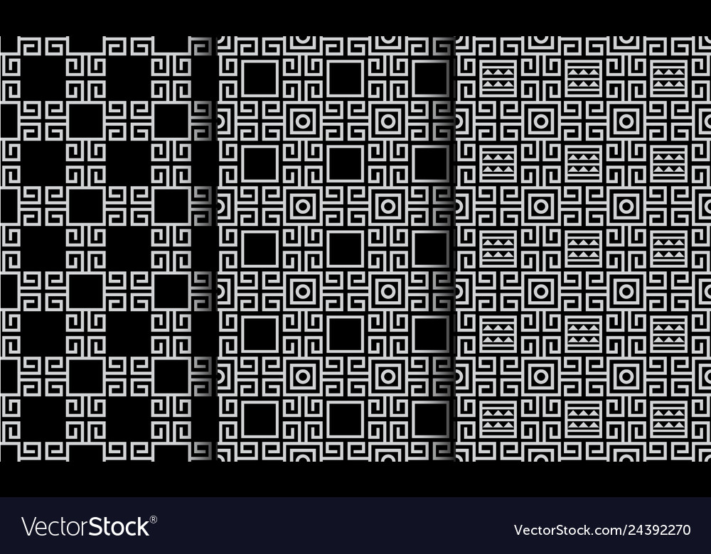 Geometric abstract ethnic style seamless patterns