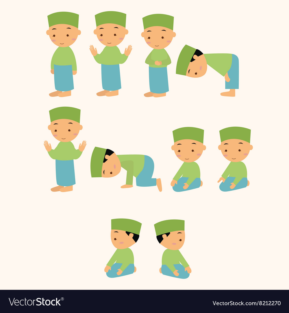 Kids pray praying shalat islam moslem boy move