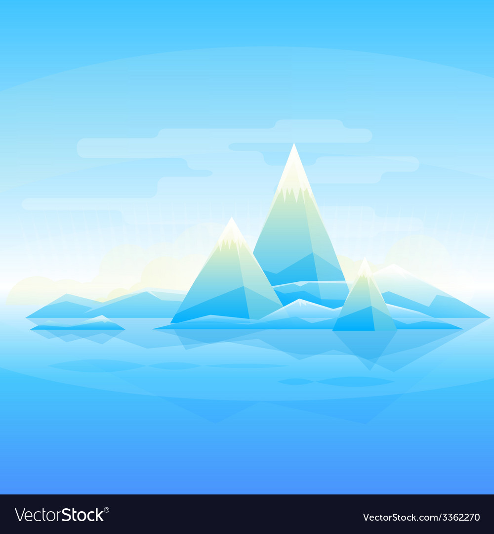 Mountain landscape background vector image