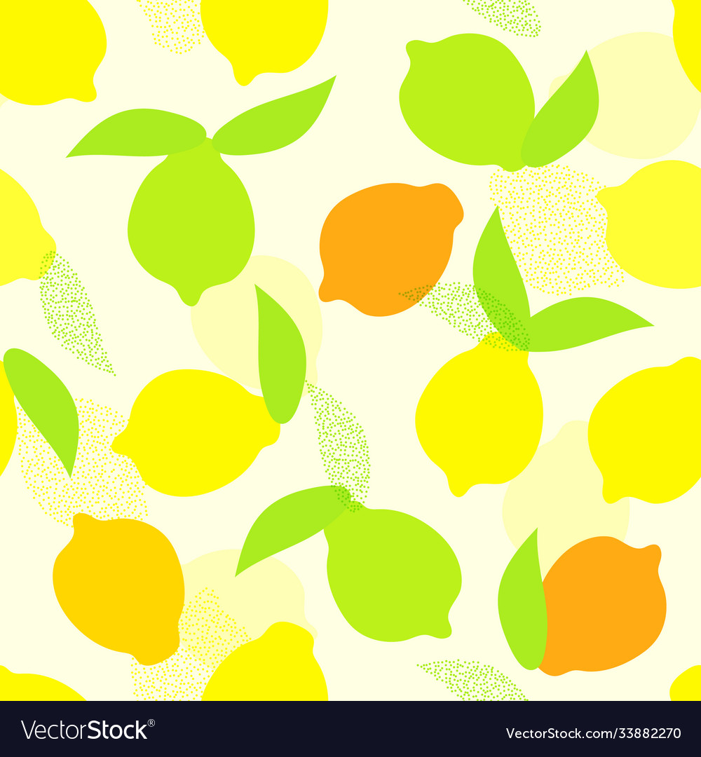 Seamless summer pattern with whole yellow
