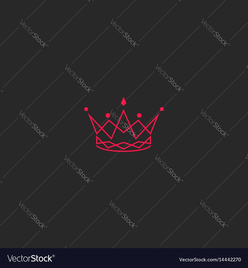 Silhouette crown logo princess tiara with gem