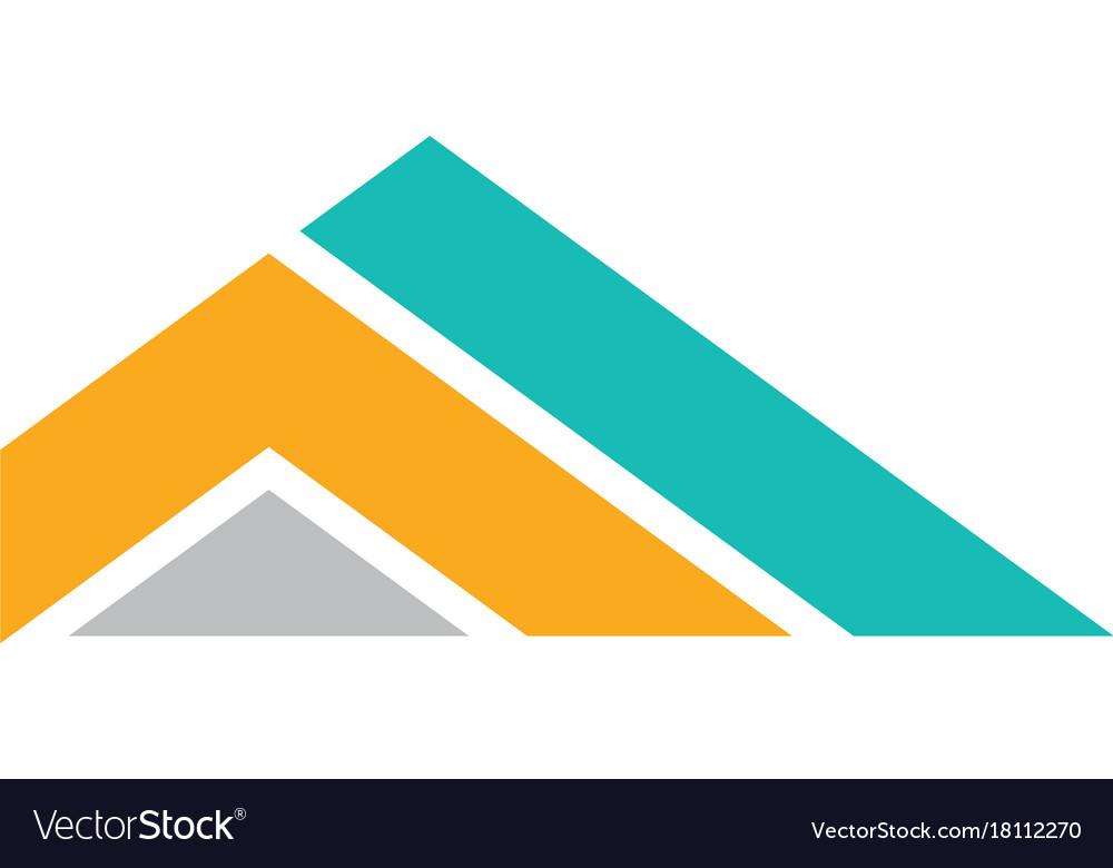 Triangle stripe company logo