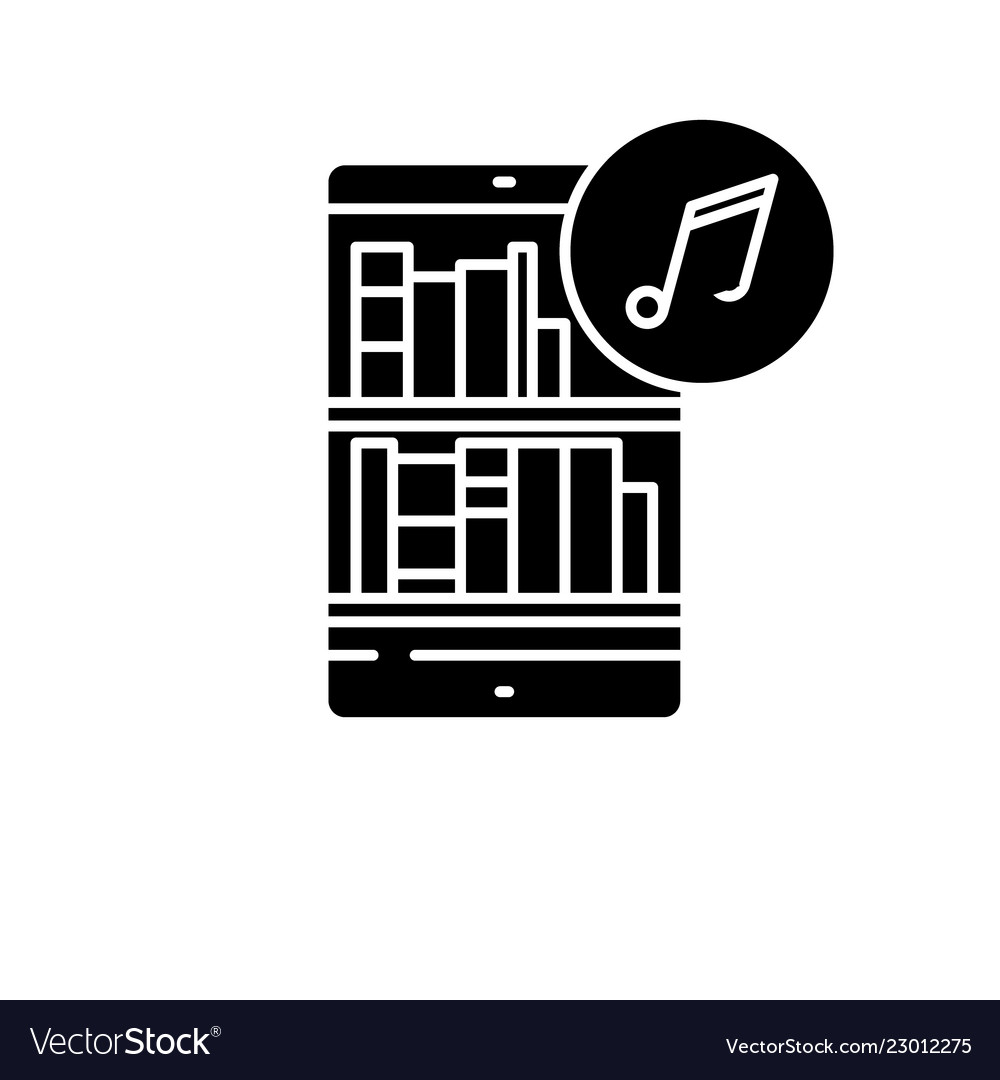 Audio books black icon sign on isolated