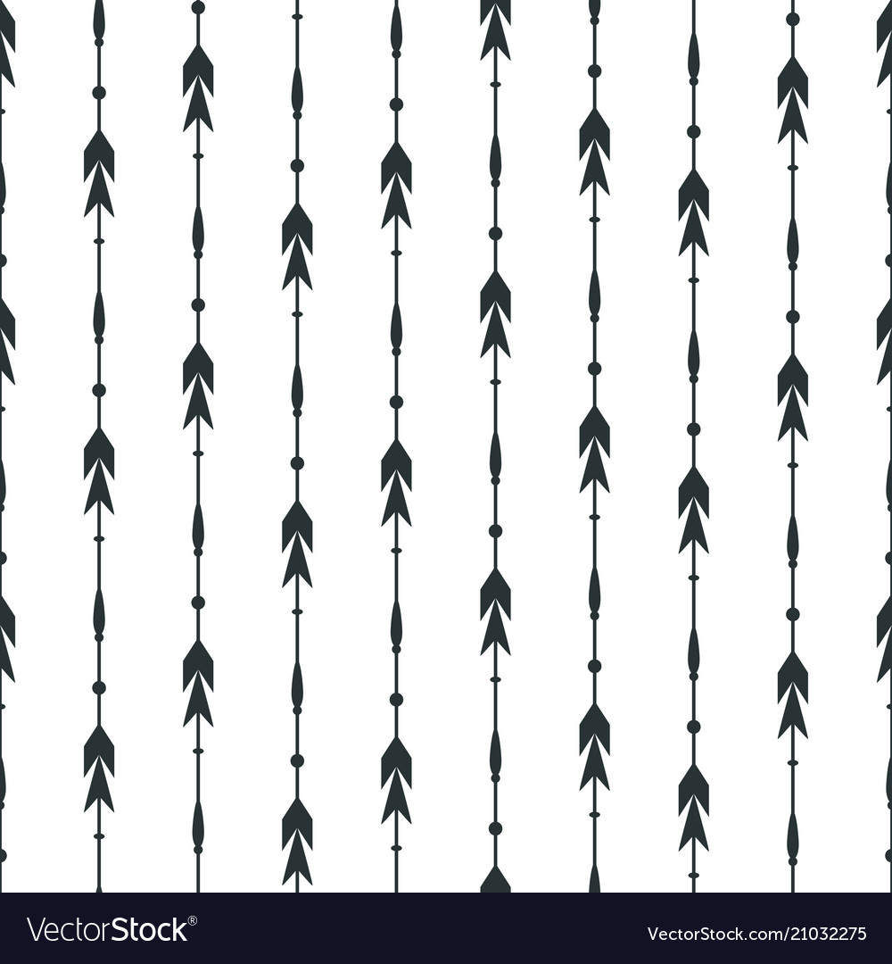 Black arrows seamless pattern background vector image