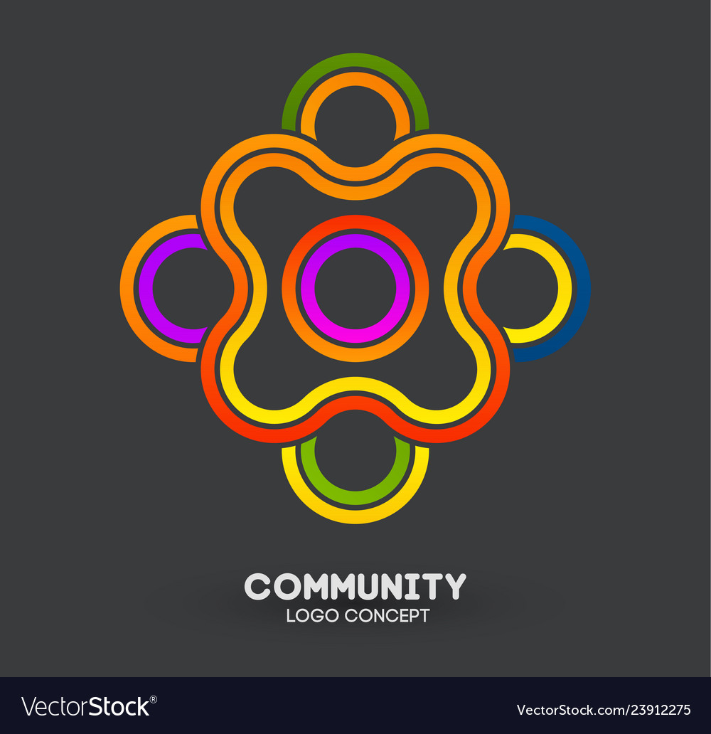 Community care logo connecting people logo design