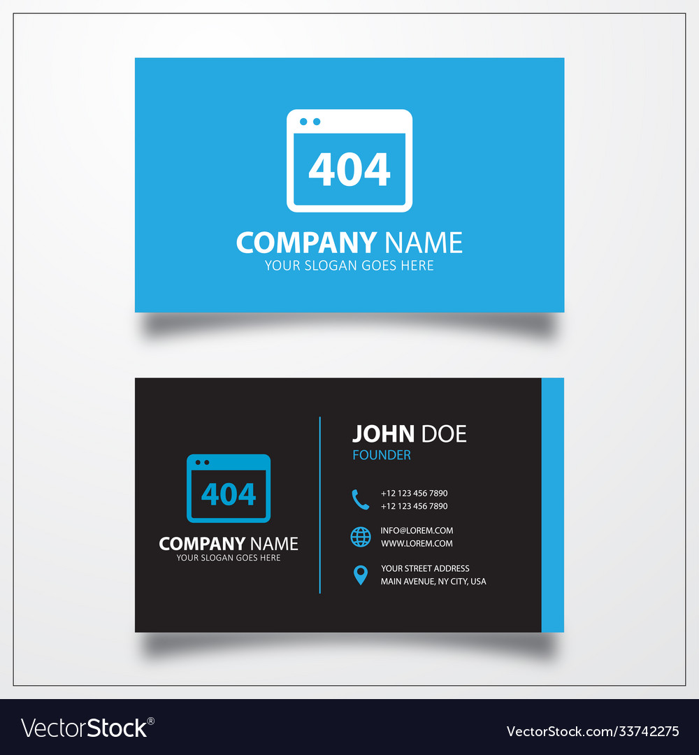 Jet engine icon business card template