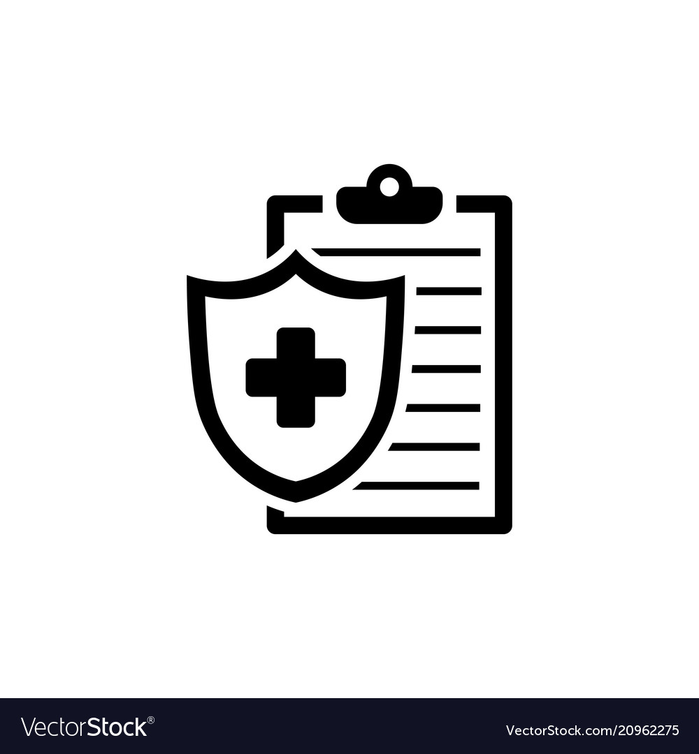 Medical Insurance Icon Health Insurance Symbol Vector Image