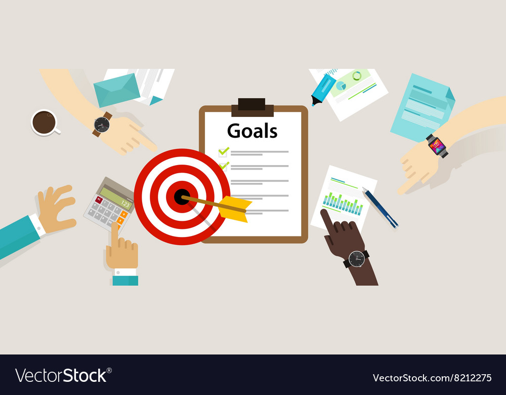Target goals icon success business strategy