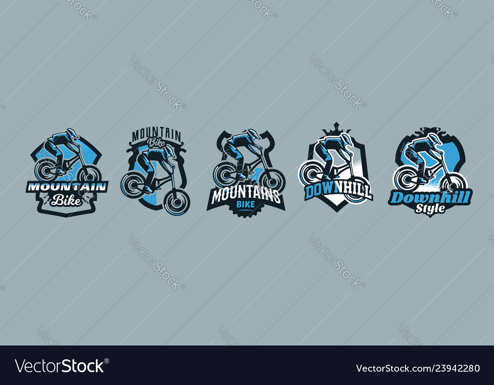 A colorful set of emblems badges logos of a