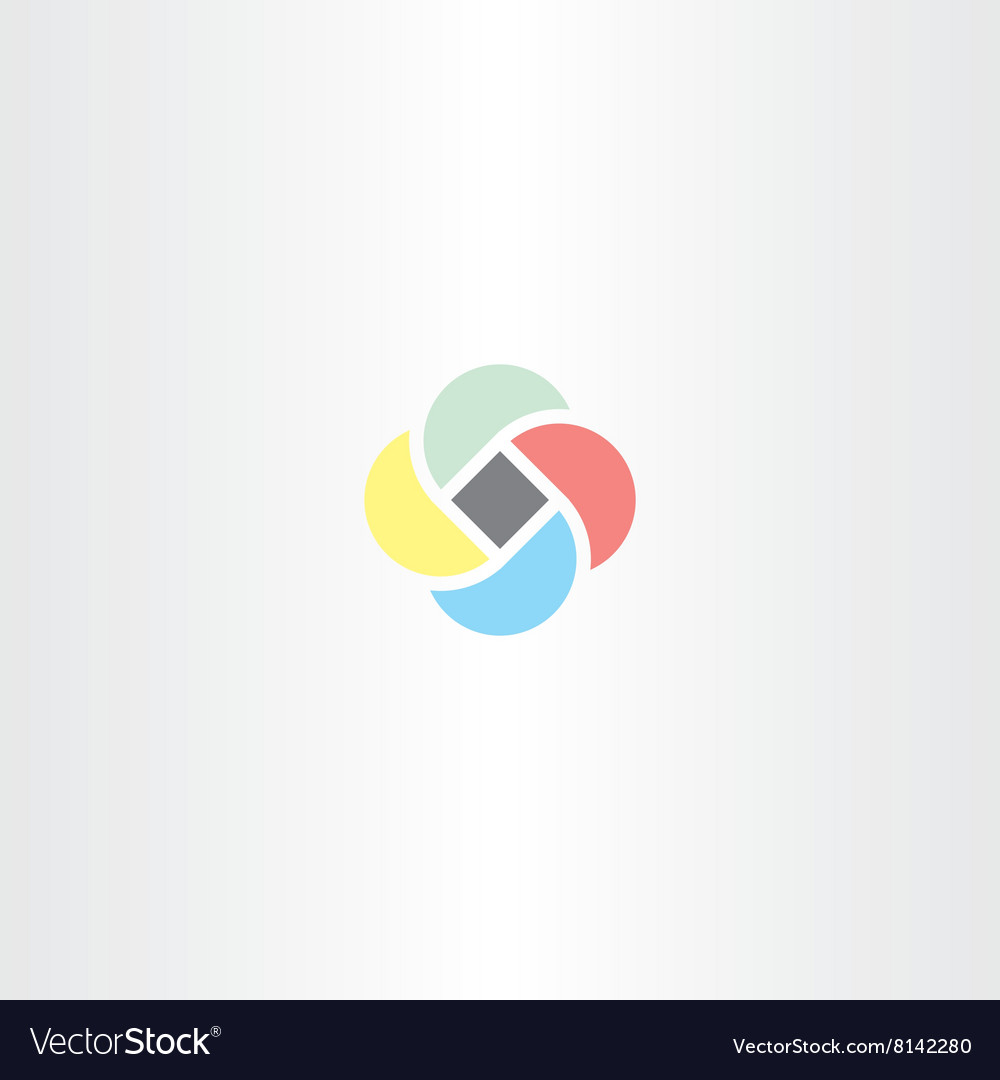 Abstract business logo sign colorful tech icon