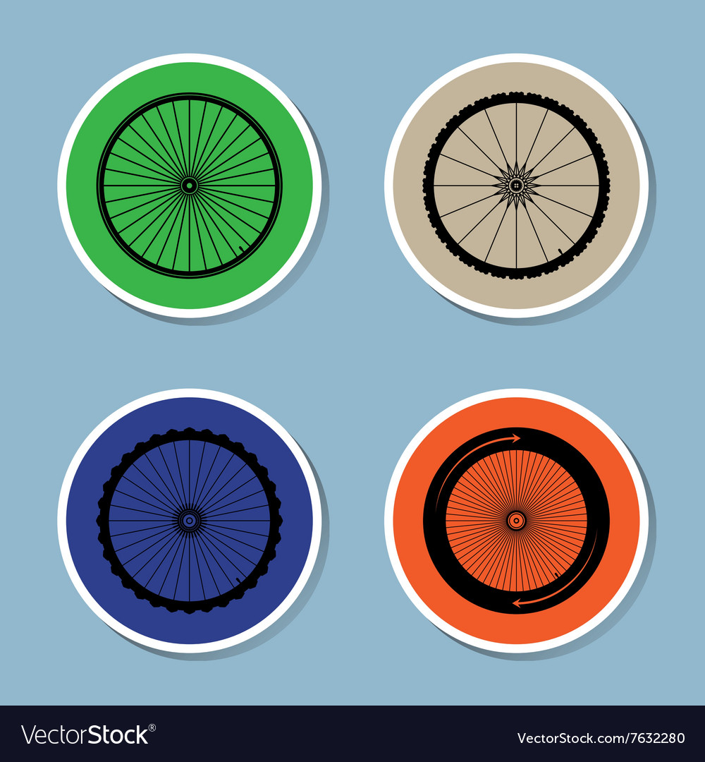 Bicycle wheel icon set