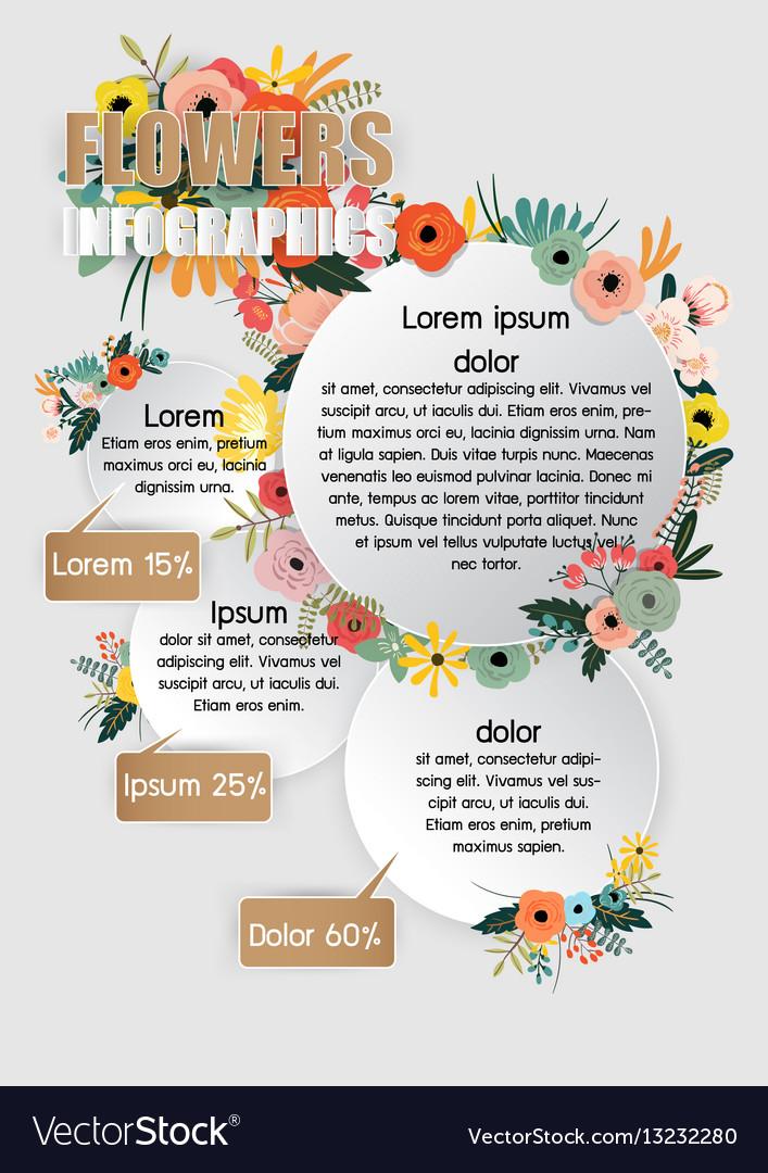 Flowers infographics