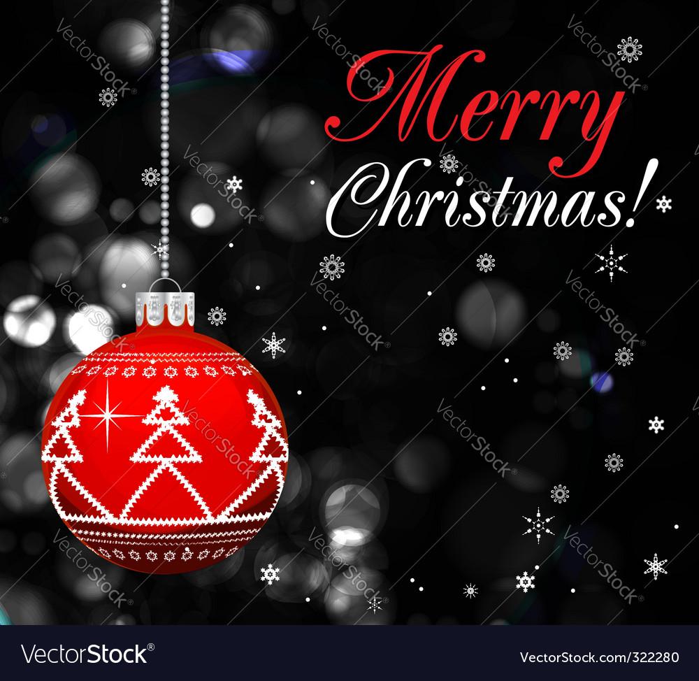 Glowing Christmas vector design illustration vector image
