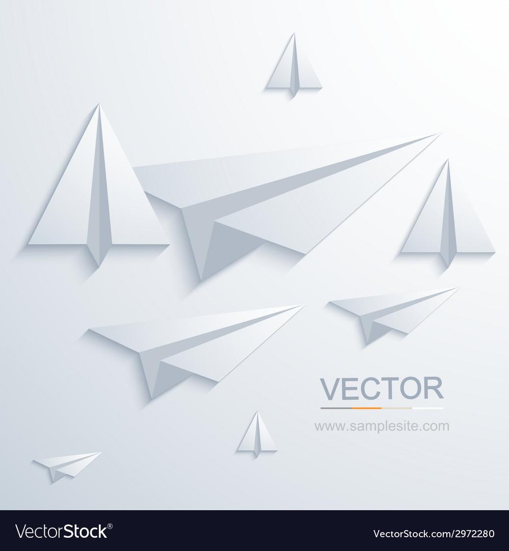 Modern origami airplane background