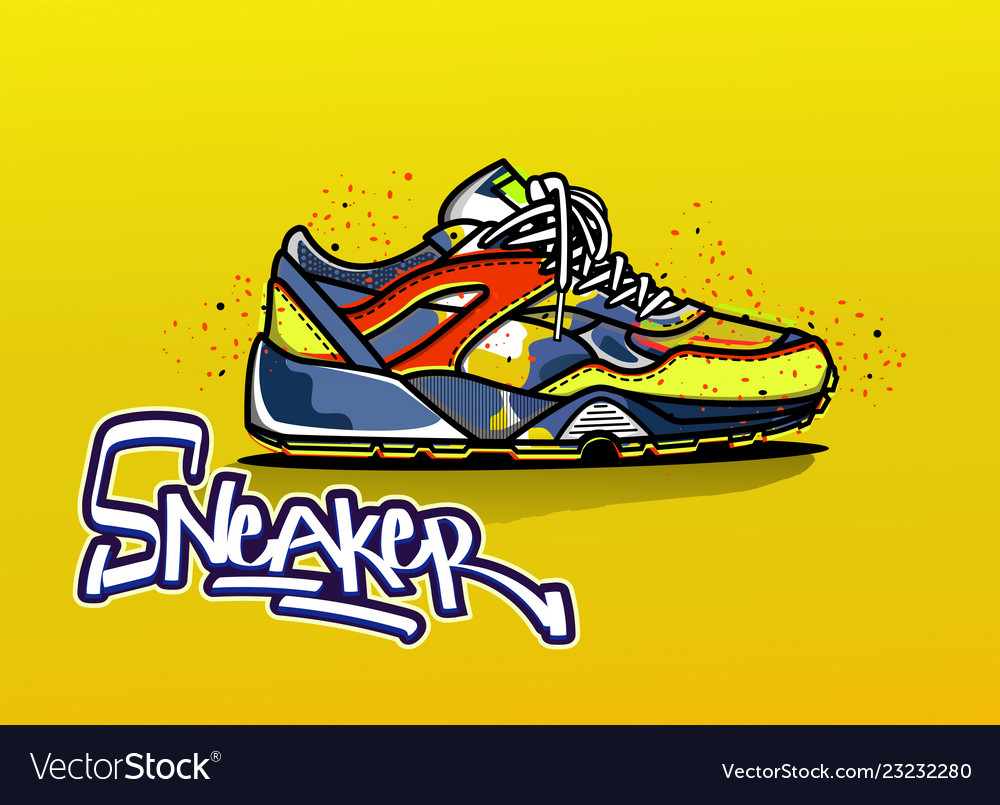 Sneakers in color sport shoes