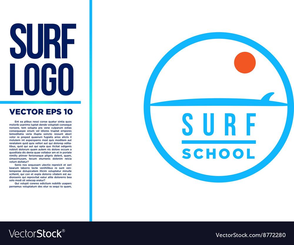 Surf Logo Wave logotype blue