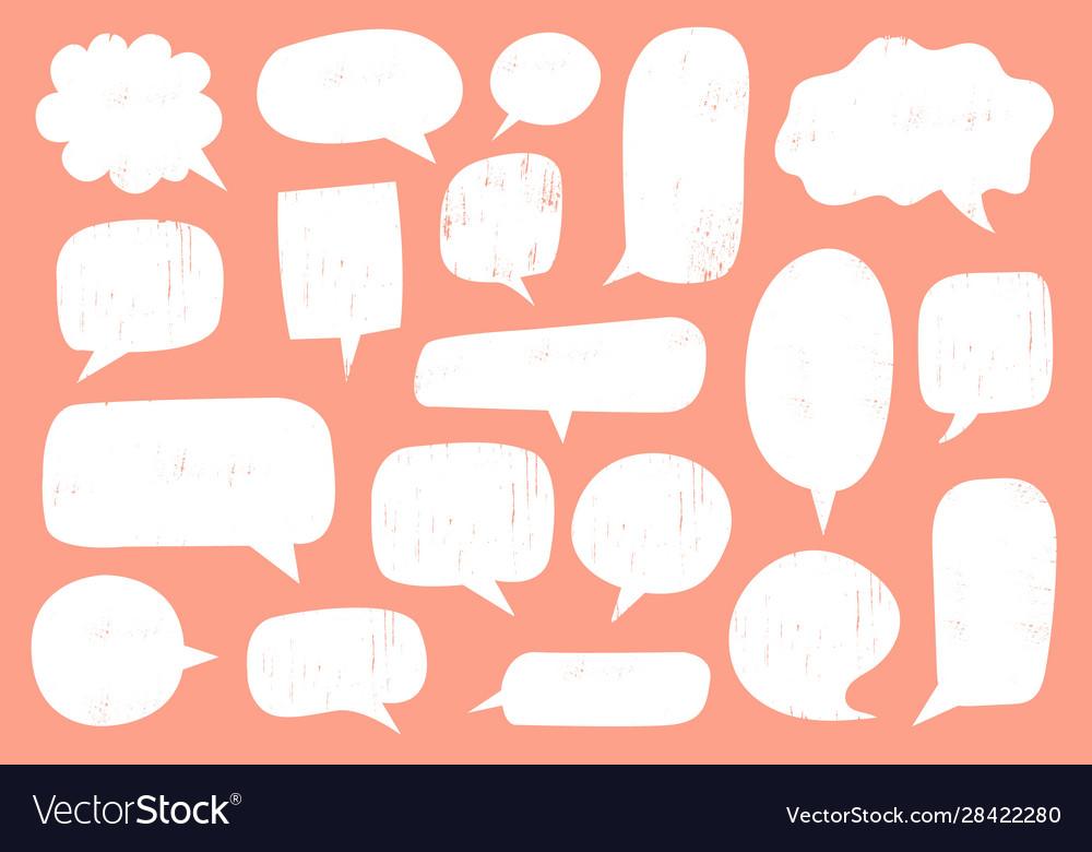 Textured speech bubble comic communication frame