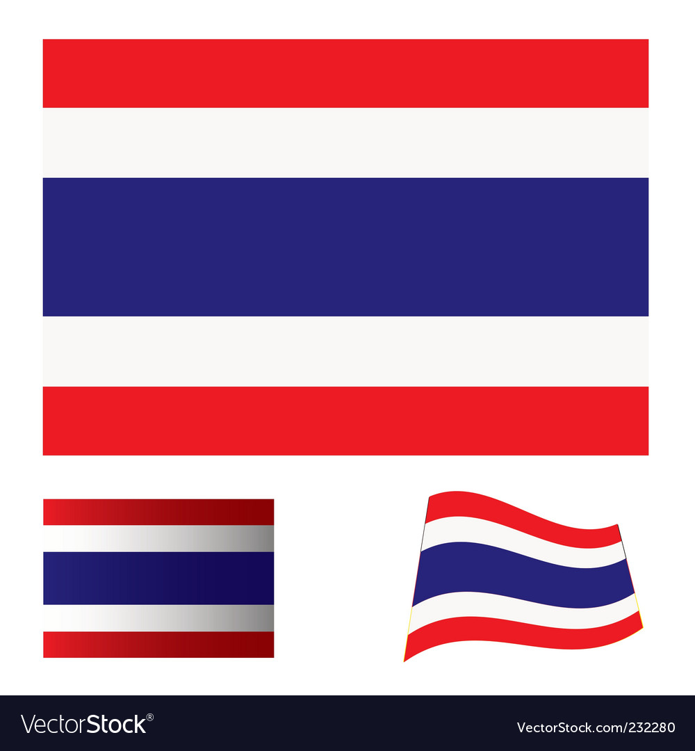 Thailand flag set
