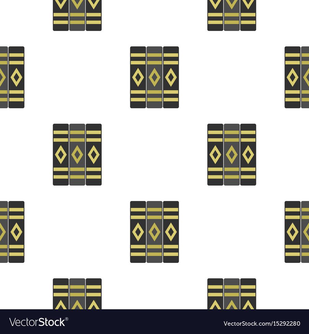 Three literary books pattern flat