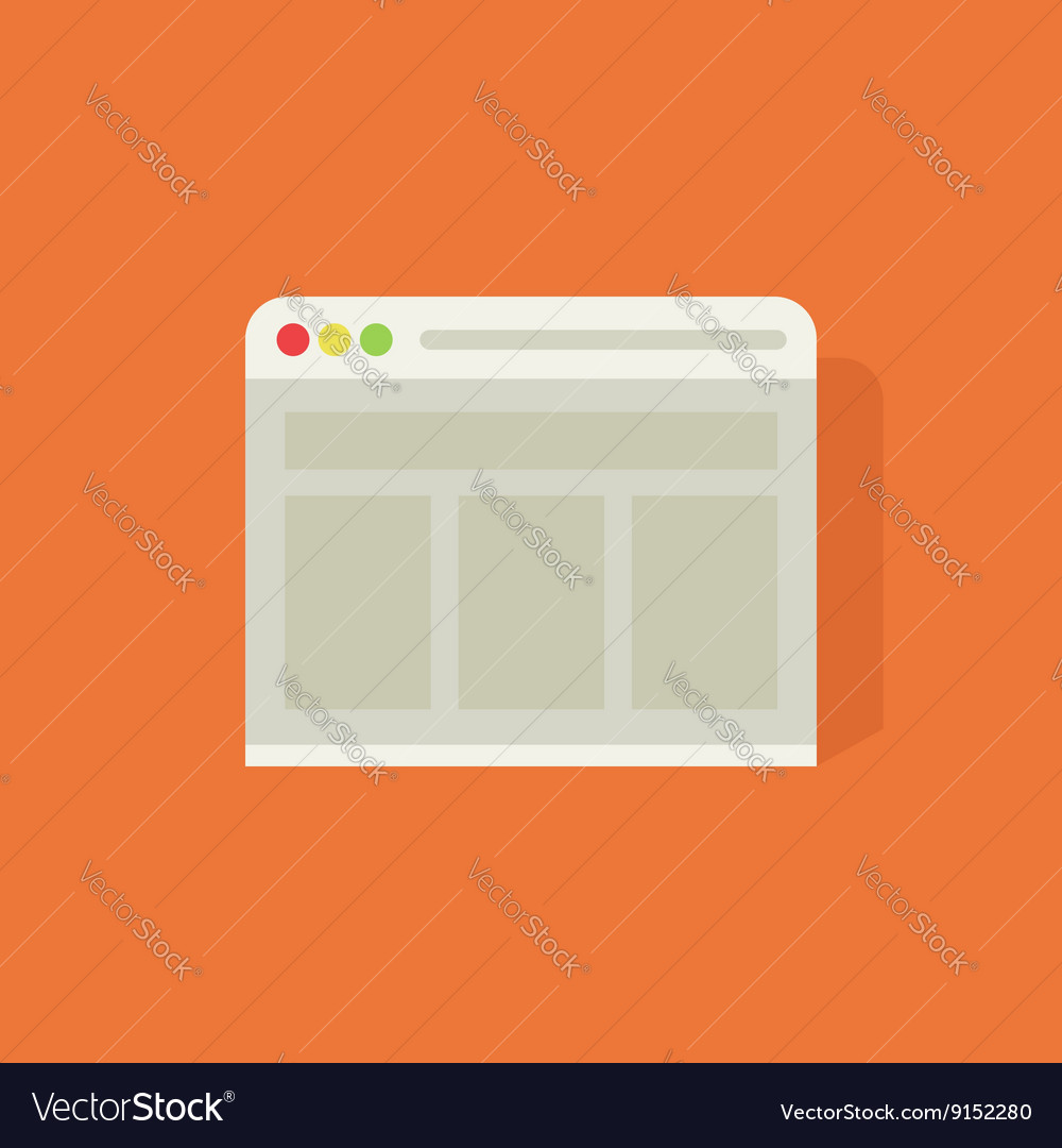 Web browser icon vector image
