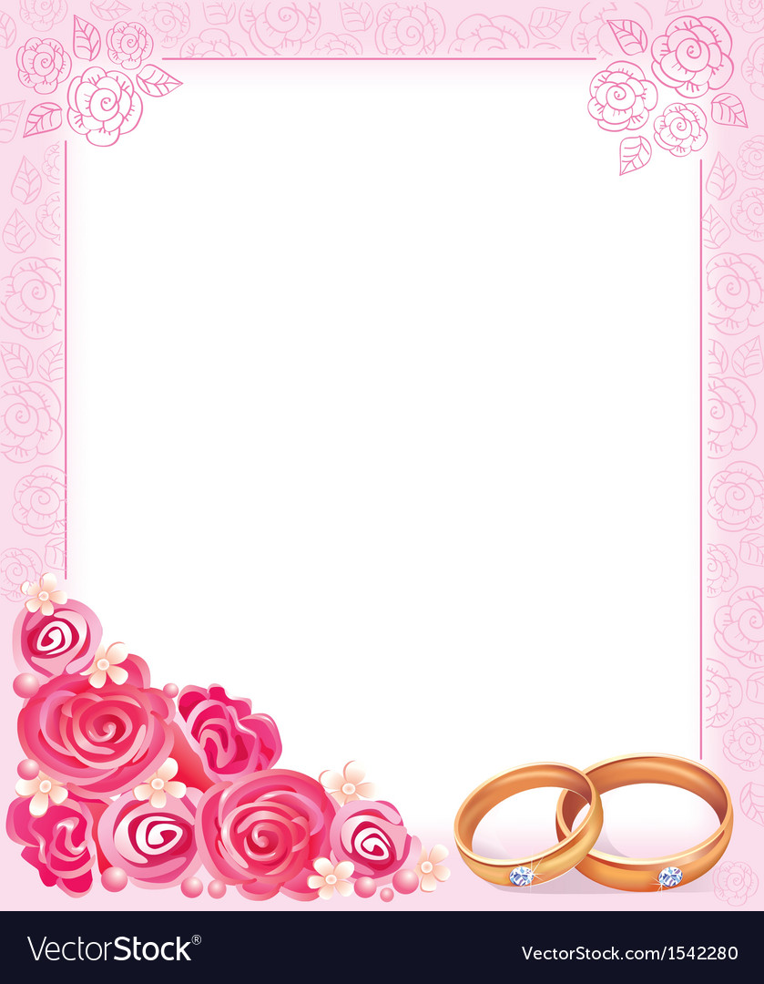 Wedding frame Royalty Free Vector Image - VectorStock