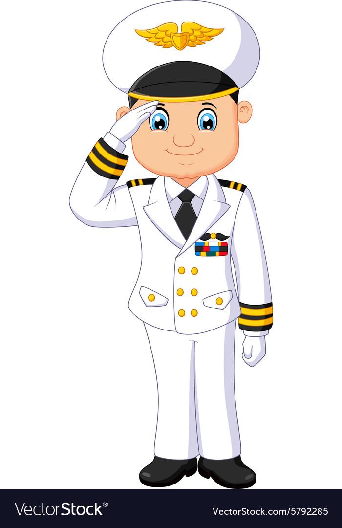 Капитан в картинках для детей, открытка