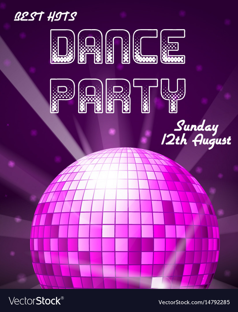 Dance disco party holiday event background