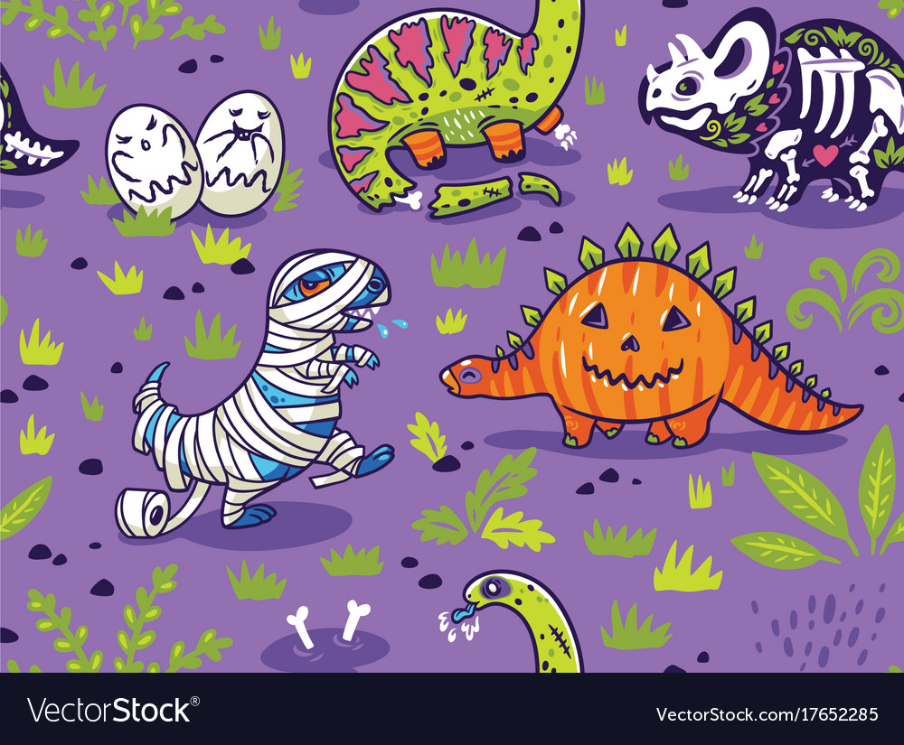 Dinosaurs in costumes for halloween