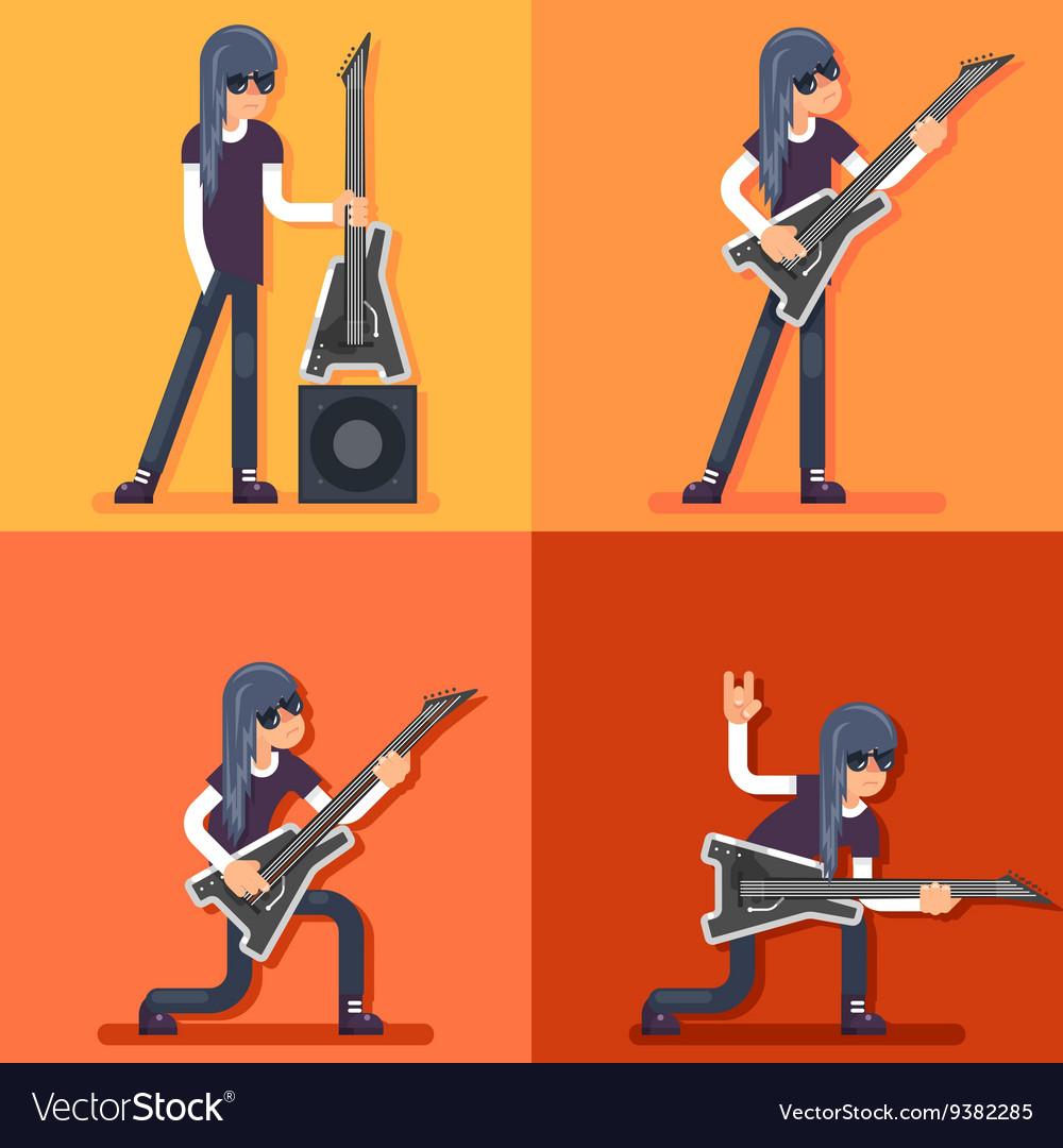 Electric Guitar Icon Guitarist Hard Rock Heavy