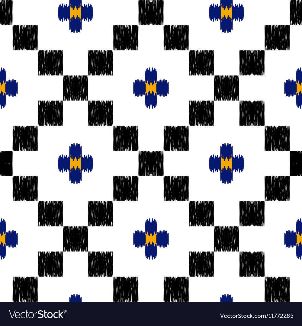 Hand drawn tribal ethnic seamless pattern in