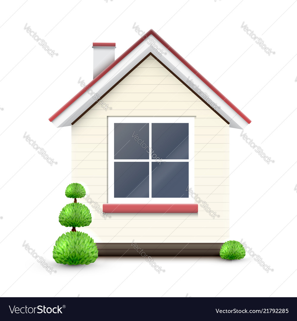 House with a big window