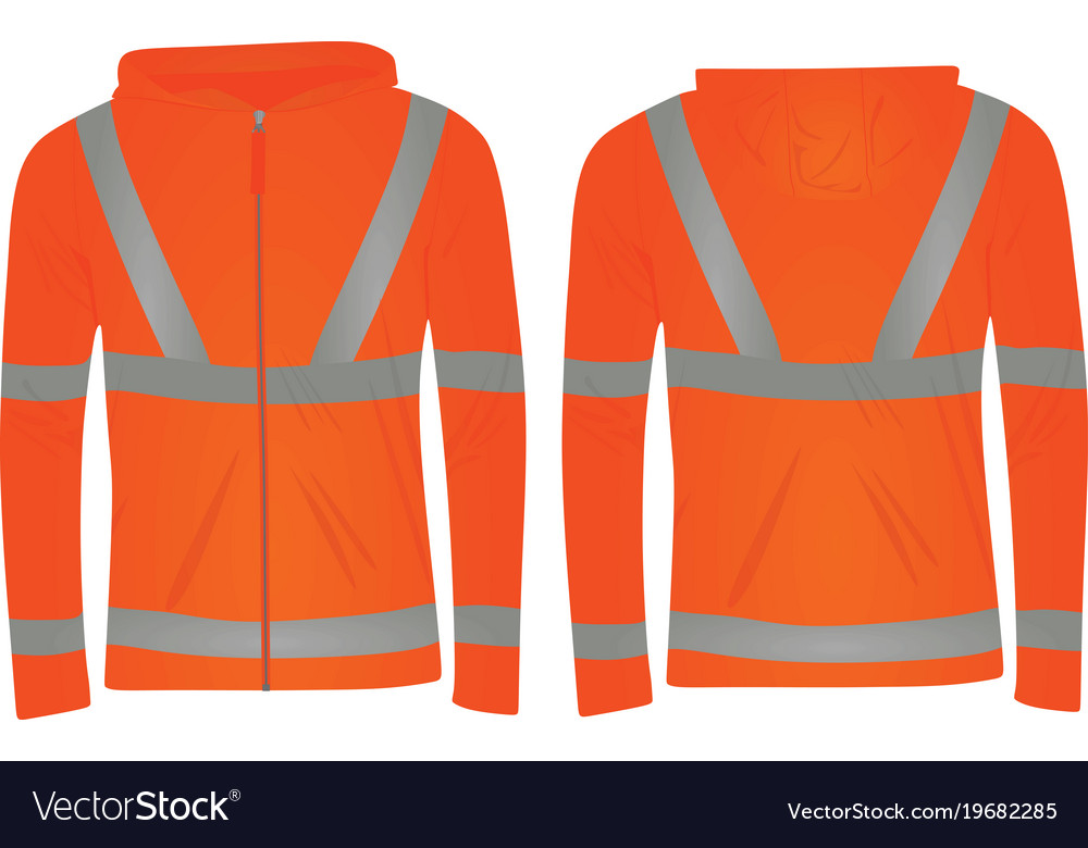 420bff2d38 Orange safety jacket Royalty Free Vector Image