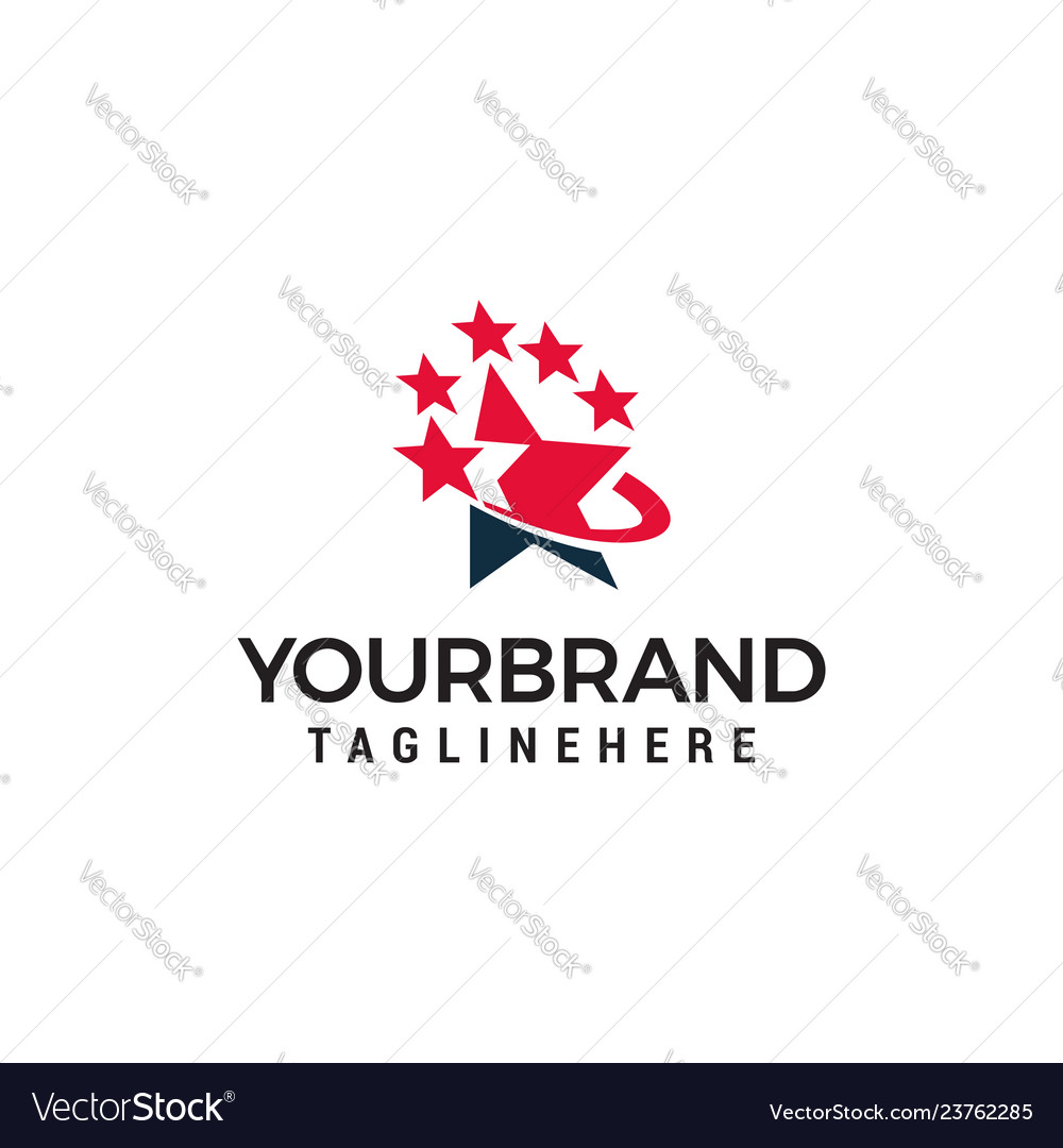 Star logo design template