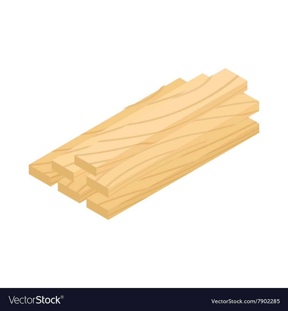Wood planks icon isometric 3d style