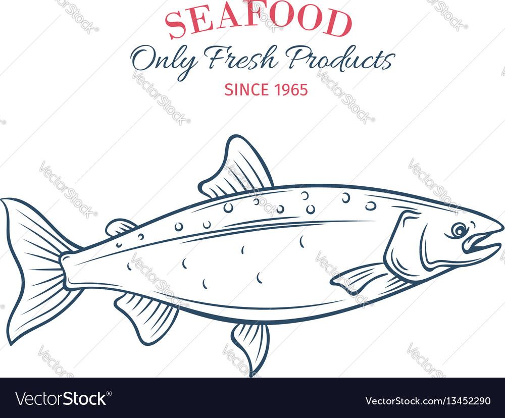 Hand drawn salmon icon