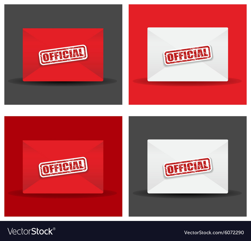 Official envelope set