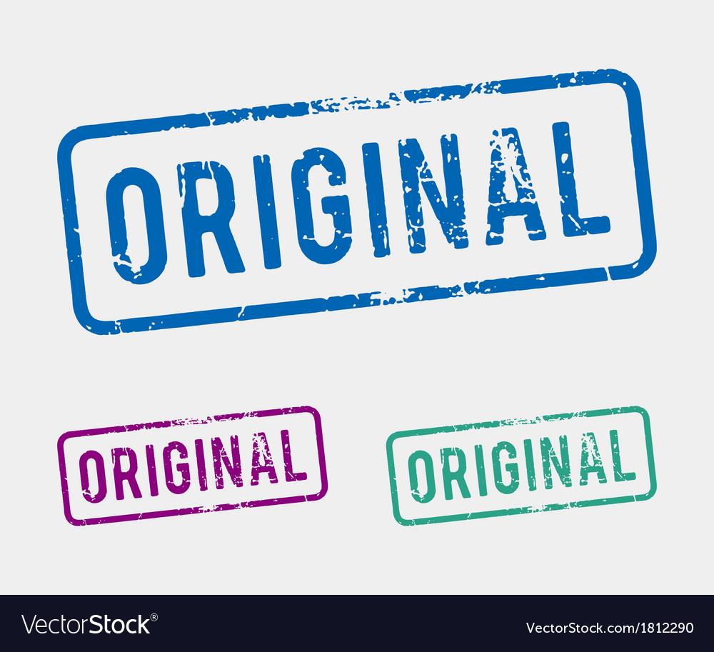 Original rubber stamp vector image