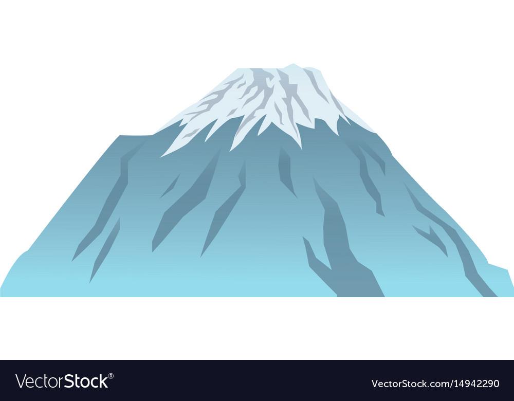 Snow peak mountain travel tourism
