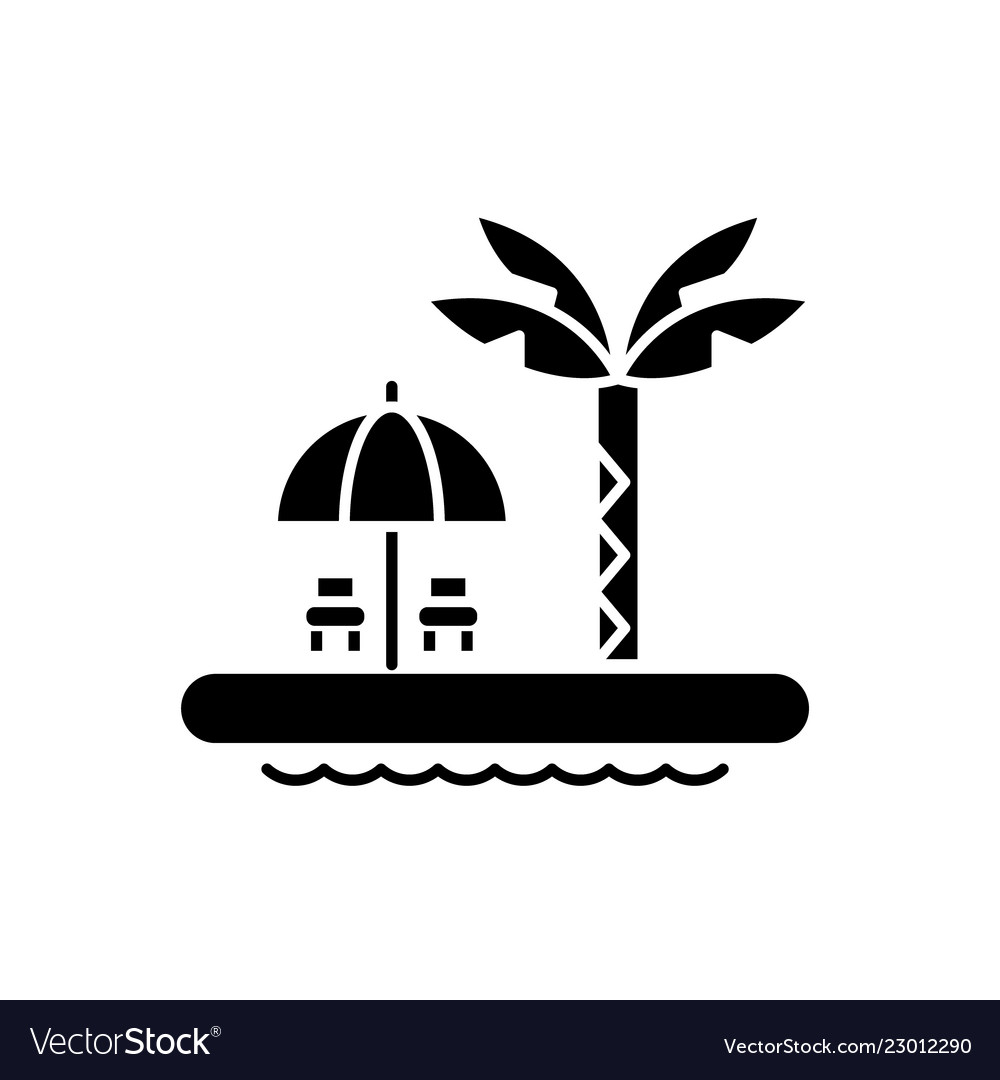 summer relaxation black icon sign on royalty free vector vectorstock