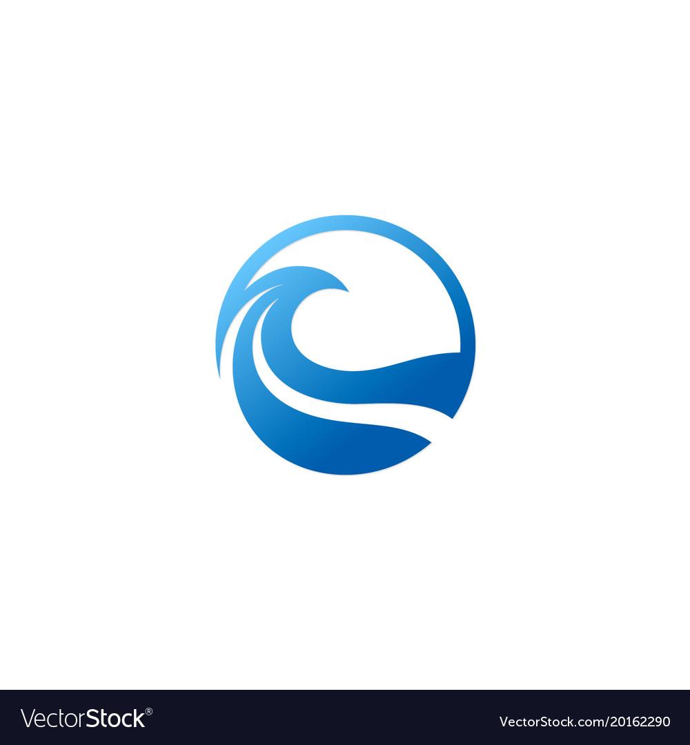 Wave ocean abstract icon logo vector image