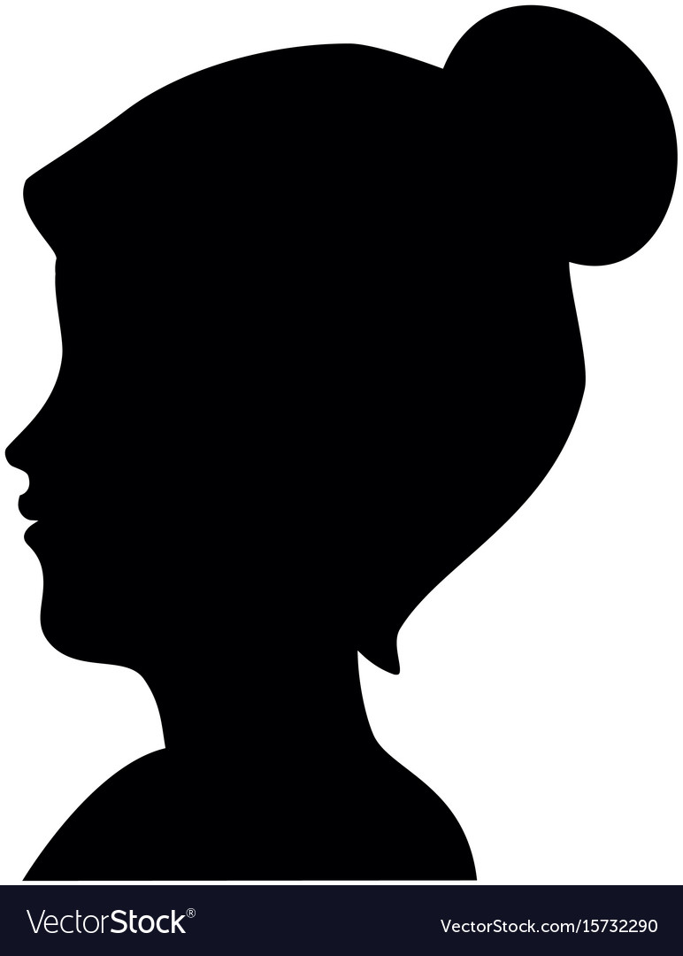 woman head silhouette royalty free vector image rh vectorstock com human head silhouette vector horse head silhouette vector free