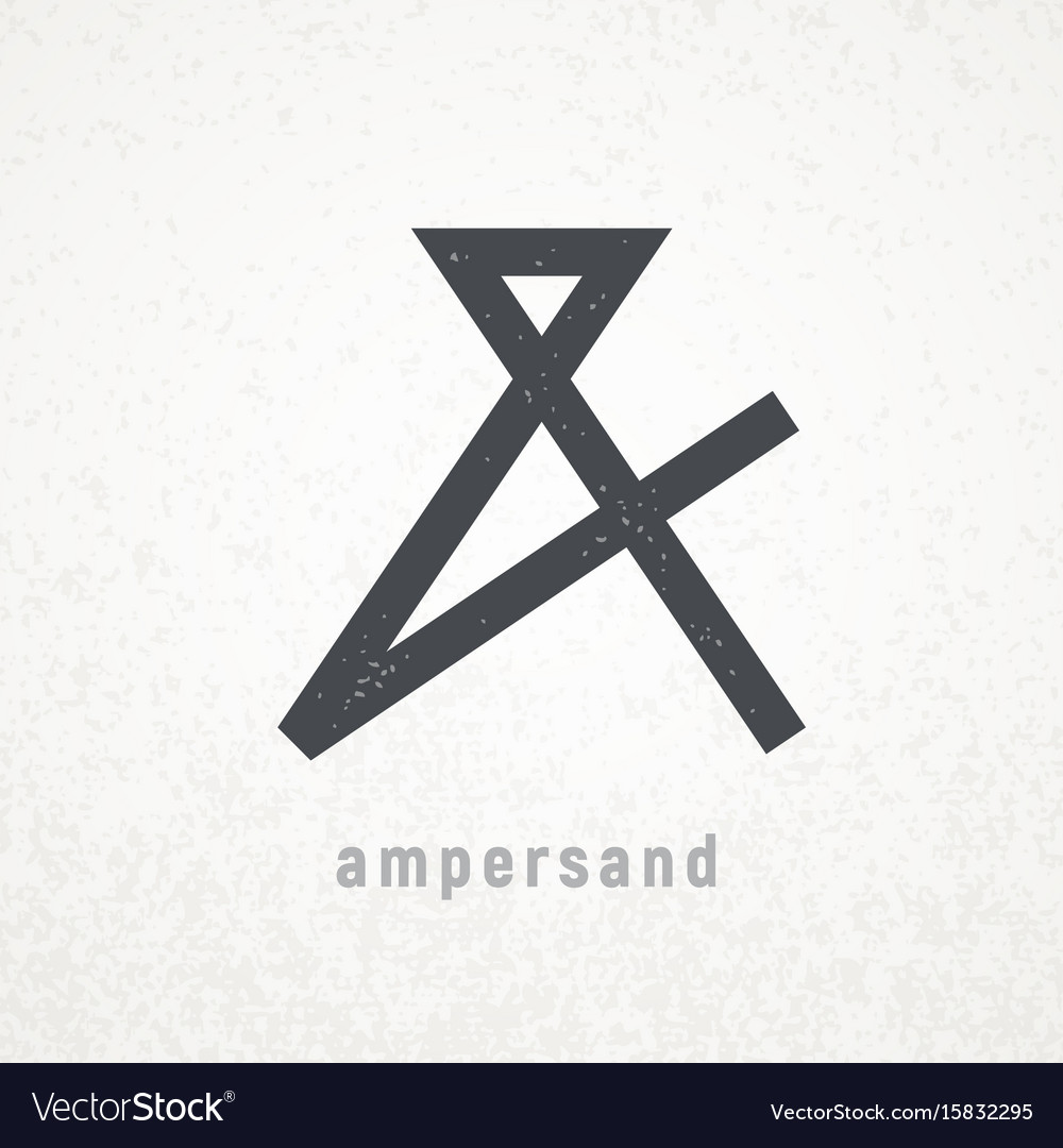 ampersand elegant symbol on grunge royalty free vector image