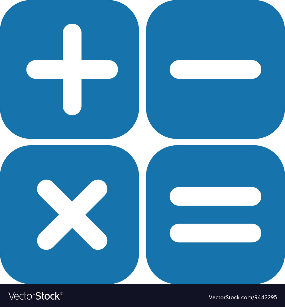 Arithmetic Signs Box Royalty Free Vector Image