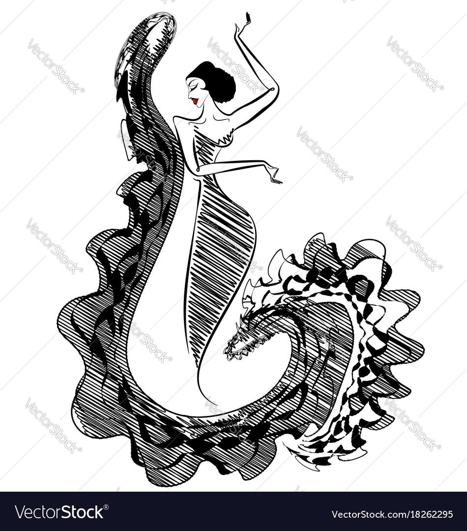 Black image of figure dancer