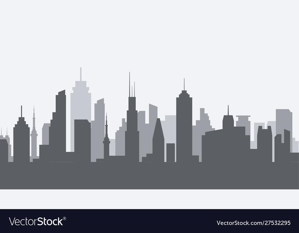 Cityscape silhouette urban city