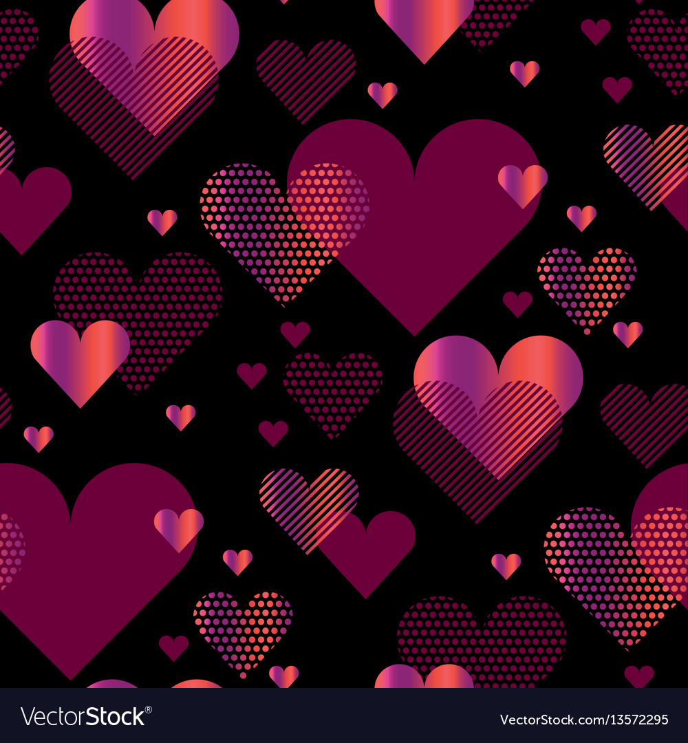 Love heart concept with black backdrop simple vector image