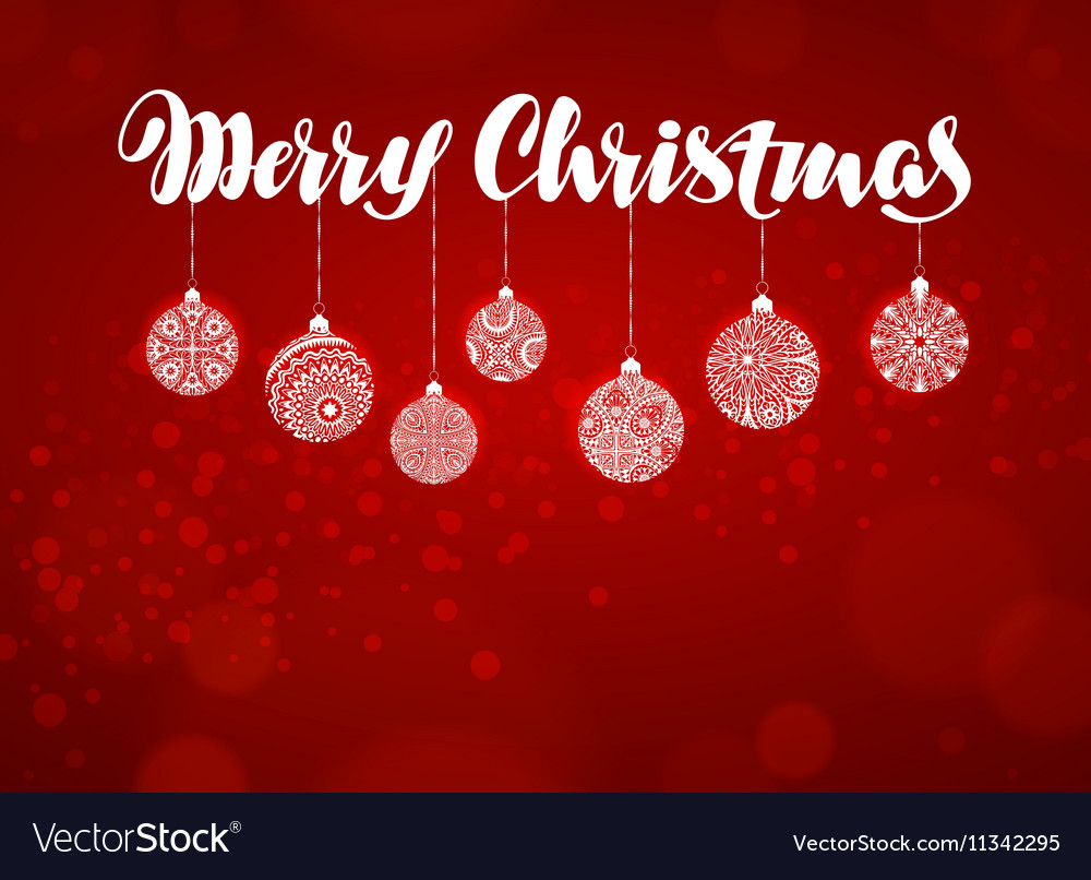 merry christmas banner xmas decoration royalty free vector vectorstock