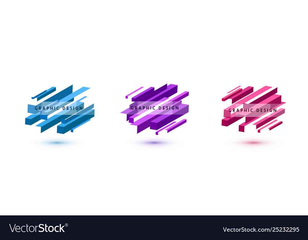 Set graphic shapes abstract background