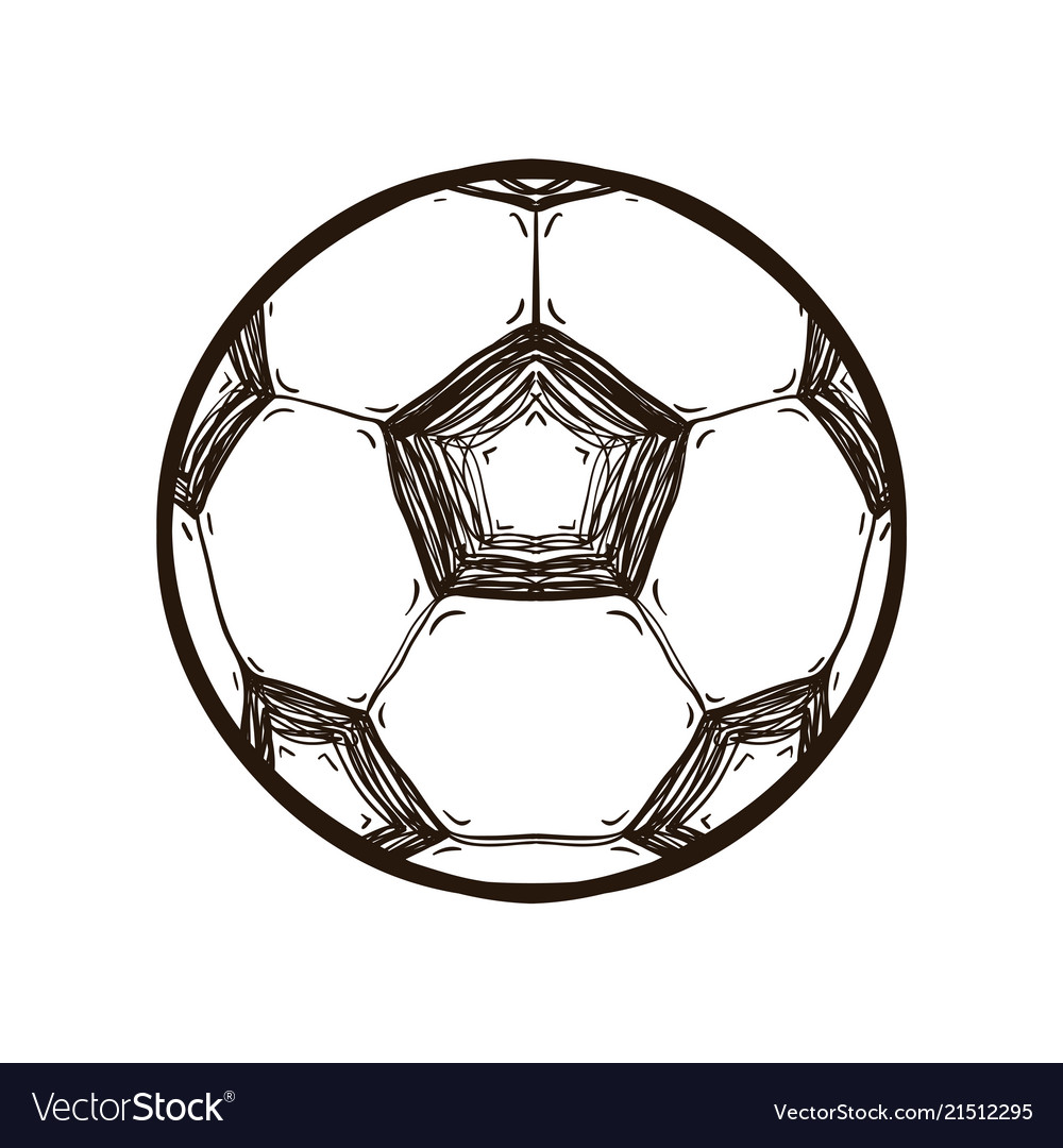 - Soccer Ball Isolated Coloring Book Royalty Free Vector Image